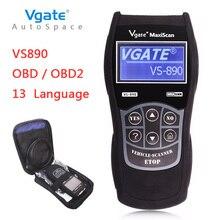 Más reciente OBD2 Escáner Vgate Maxiscan VS890 Fault Code Reader Auto Herramienta Universal Para El Coche de diagnóstico OBD 2 II OBDII VS 890 holandés