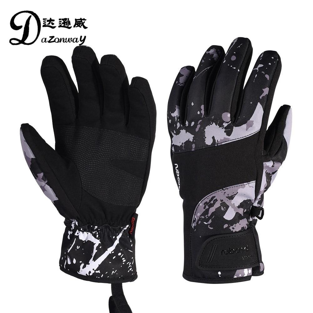 Unisexe écran tactile gants de ski cinq doigts Anti-froid velours respirant snowboard gants automne hiver Sports de plein air gants