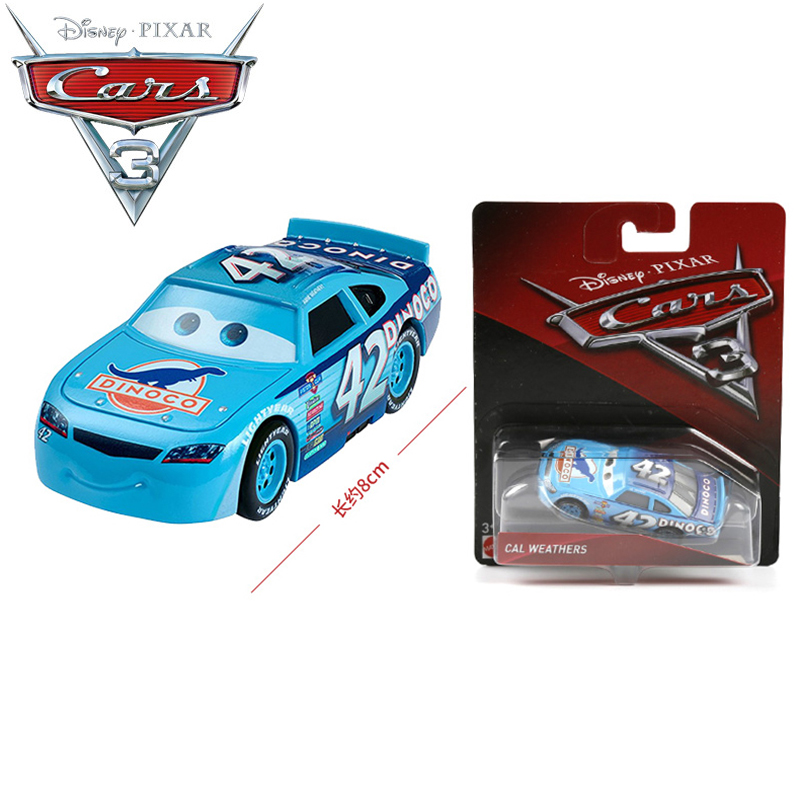 disney pixar cars 3 no 42 cal weathers dinoco alloy car models brinquedo kids cars educational toy best children gift