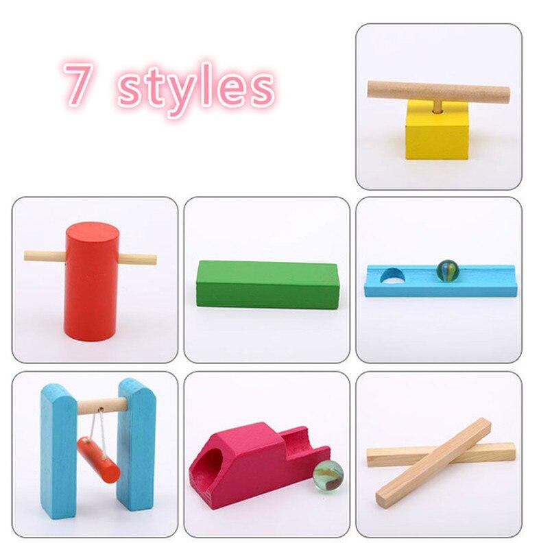 Детские деревянные игрушки домино, 120 шт., аксессуары, блоки для домино, игры Монтессори, развивающие игрушки для детей, подарок - Цвет: 7 styles