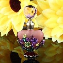 5ml Vintage masa de flores botella de Perfume vacío recargable aceite esencial antiguo artesanía de botellas regalo festivo