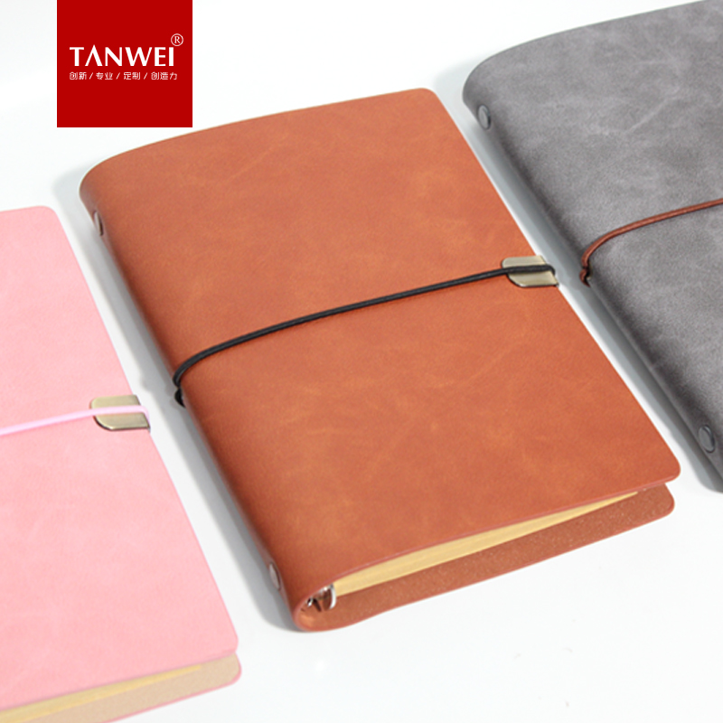 TANWEI Retro A6 Travel Notebook Portable Hand Books Leather Loose-leaf 1PCS