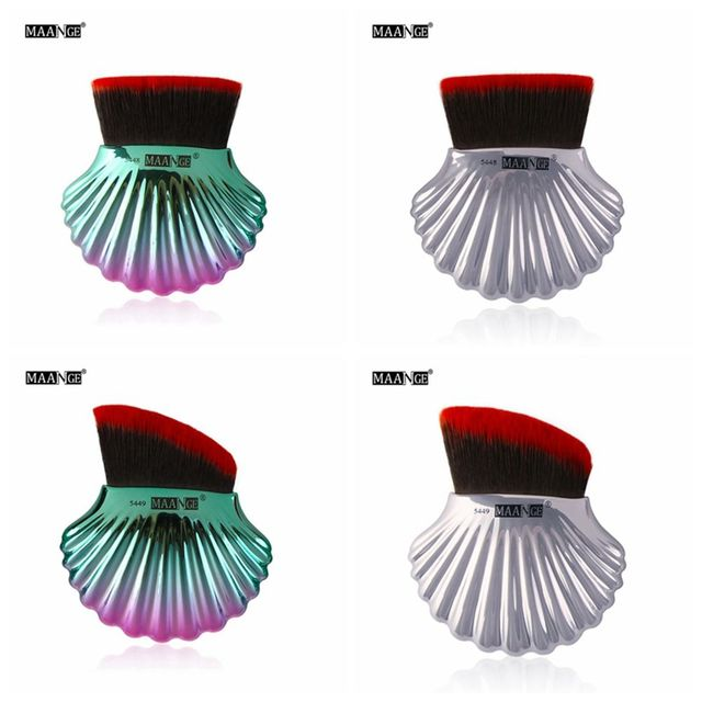 1 PC New Useful Fashion Colorful Shell Brush Foundation Concealer Face Contour Powder Blush Cosmetic Beauty Makeup Tool Makeup Brushes
