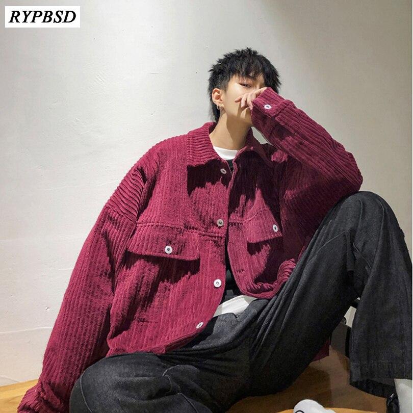 2019 automne chaud surdimensionné velours côtelé veste Hip Hop Streetwear manteau hommes velours côtelé veste à la mode chaud Bomber veste hommes