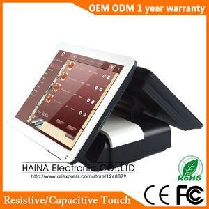 Image 3 - Haina Touch 15 zoll Touch Pos Terminal Maschine, Dual Screen POS Maschine für Restaurant und Einzelhandel Shop