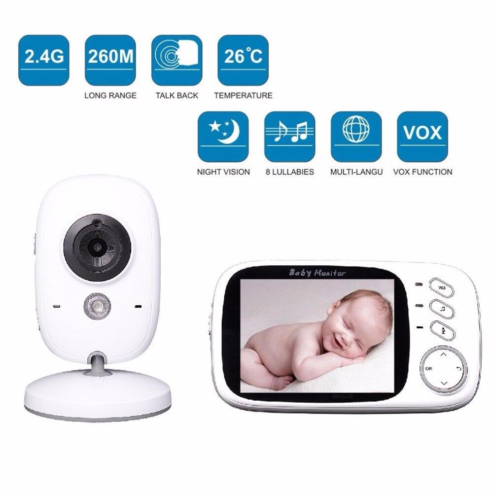 ФОТО 3.2 inch bebek telsizi IR Night vision Intercom Lullabies Temperature monitor Multi-language bateria eletronica bebek telsizleri