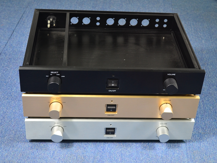 Серебро Золото Черный пройти 1,7 Полный усилитель алюминиевое шасси/предусилителя Pre-шасси/AMP корпус/DIY коробка (430*70*310 мм)