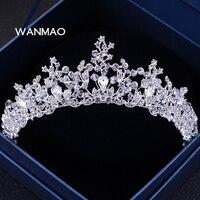 A coroa da princesa jóias cocar de casamento com casamento de cristal faixa de cabelo enfeites de cabelo de noiva coroa de aniversário jóias HA0035