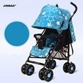 Carrinho de bebê dobrável ultra portátil suspensão de quatro rodas carrinho guarda-chuva