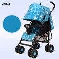 Cochecito de bebé plegable ultra portátil suspensión de cuatro ruedas cesta paraguas