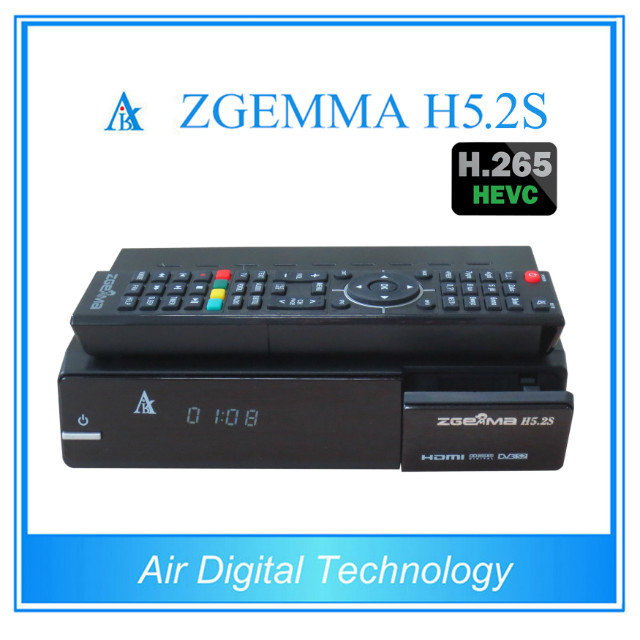 5pcs/lot Original ZGEMMA H5.2S Dual Core DVB-S2 + DVB-S2 Twin Tuner Satellite Receiver Support HEVC / H.265