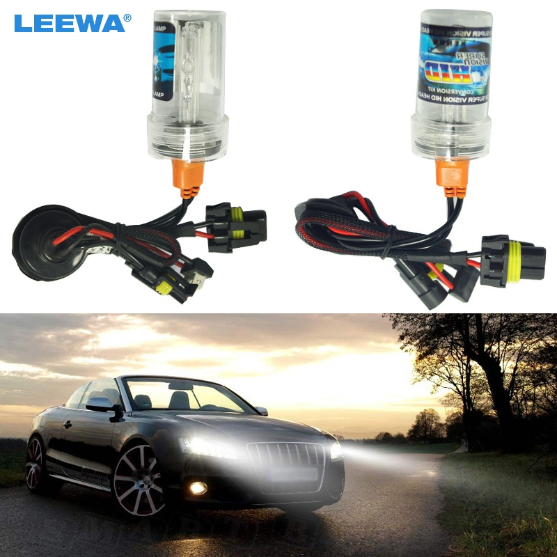 LEEWA 2x 6000K White 12V 35W H15 Xenon HID Bulbs Car Replacement HID Headlights Singel Bulbs #CA2011