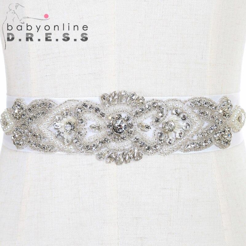 Brand New Реальная Картина Свадебные Пояса и Пояса белое свадебное ремни с Кристаллами 2017 Cinturon Де Novia