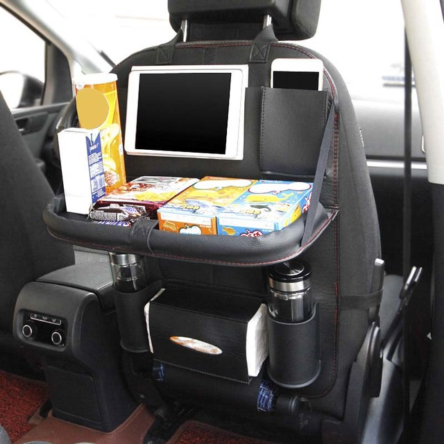 Multi Function Car Back Seat Organizer Beverage Food Storage Bag For