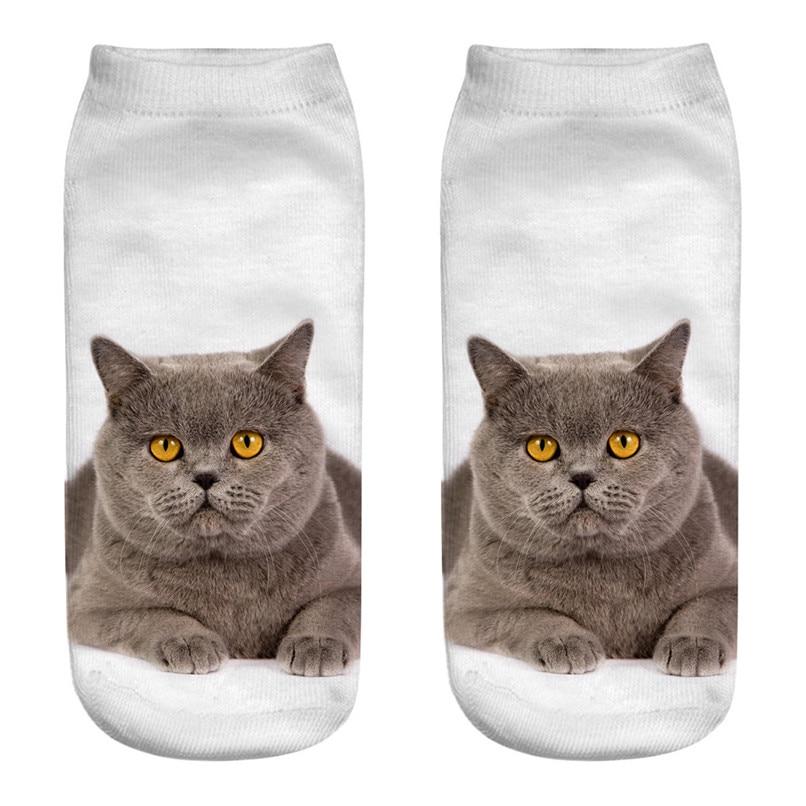 Unique design Cat 3D Printing Socks Cute Women Work Business Cotton Funny Sock Medium Sports Socks Comfortable #2s29 (7)