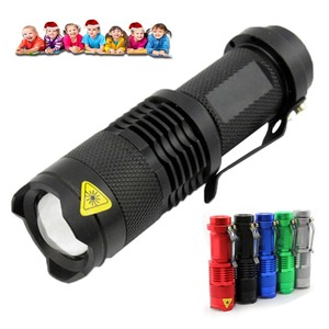 LED Flashlight Torch Q5 LED 14500 AA Lamp 3 Modes Portable Zoom Outdoor Camping Flashlight Waterproof LED Mini Tactical Lantern(China)
