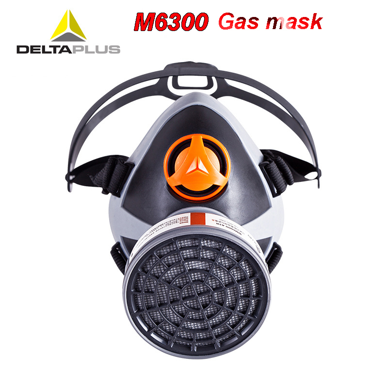 Deltaplus M6300 Respirator Gas Mask CE Certification Multifunction Respirator Mask For Acid Gas Formaldehyde Toxic Gas Mask