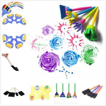 4 sztuk zestaw rysunek zabawki dla dzieci kwiaty do składania Graffiti szczotki z gąbki uszczelnienie narzędzie do malowania śmieszne pianki szczotki kreatywne zabawki tanie i dobre opinie BESTIM INCUK CN (pochodzenie) Z tworzywa sztucznego drawing toys Other Unisex 3 lat