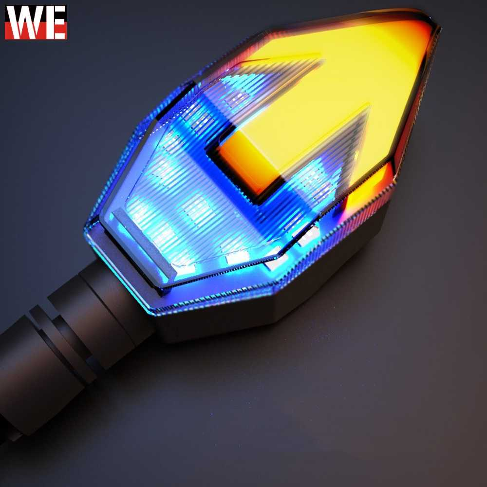 Universal Motorcycle Turning Signals Light Motorbike LED Arrowhead Turn Signal Lamp Flowing Water Moto Warn Safety Lights