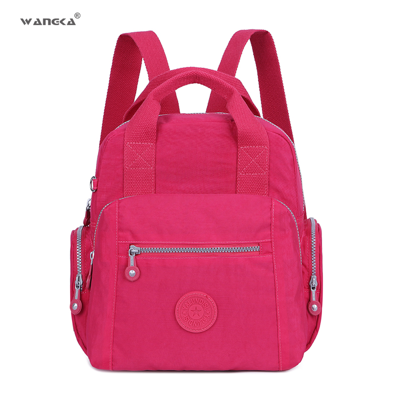 a20753b50cd WANGKA Fashion Small Mini Backpack Waterproof Preppy College School Bags  for Girls Korean Style Women Travel Rucksack 2018 New