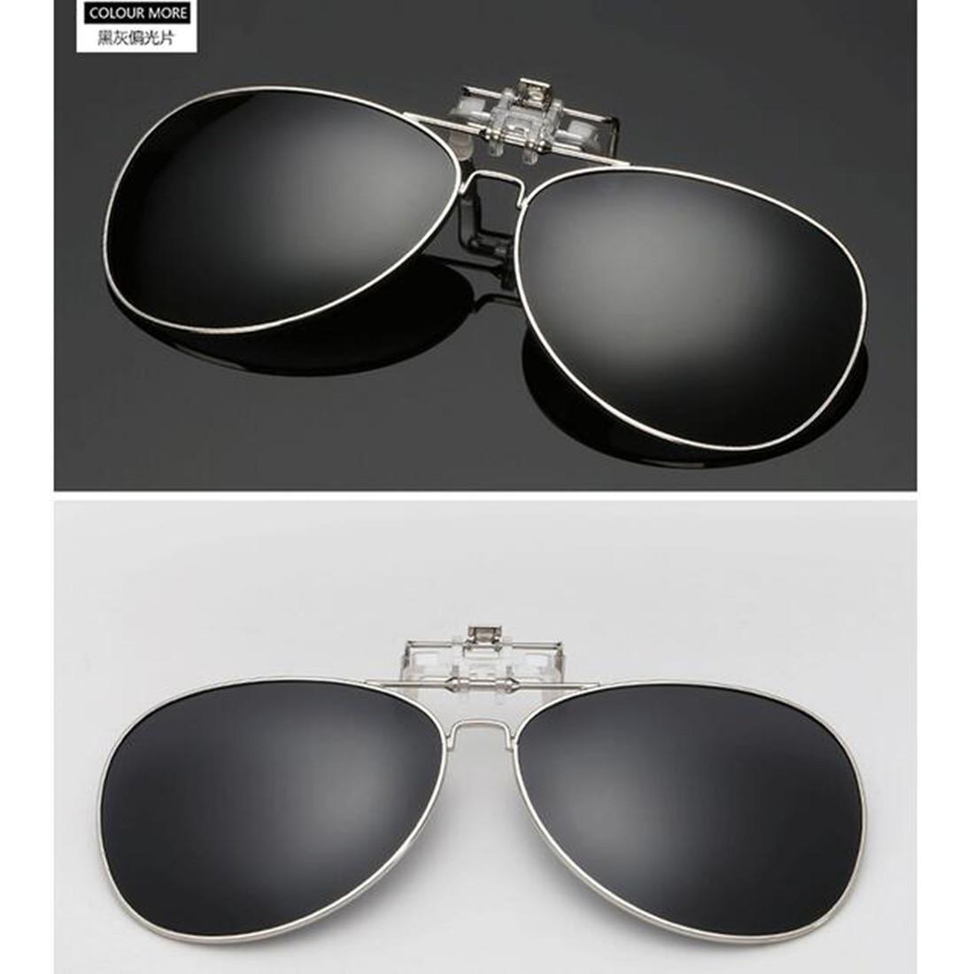 Hommes femmes Clip polarisé sur lunettes de soleil pêche nuit Anti UV conduite cyclisme équitation pêche lunettes de soleil Clips