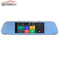 7inch Bluetooh GPS Driving Recorder Dual Camera 3G Smart Rearview Mirror Touch Screen HD Android Remote Support Car Wifi FM TF