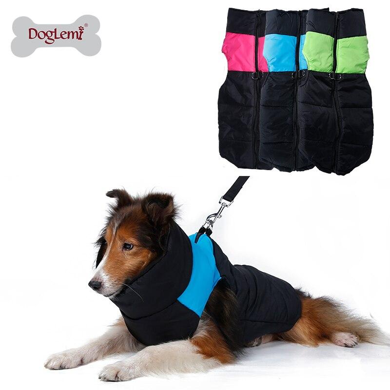 DogLemi 방수 나일론 개 옷 대형 개 아늑한 zip-up 개 자켓 개 조끼 애완 동물 의류