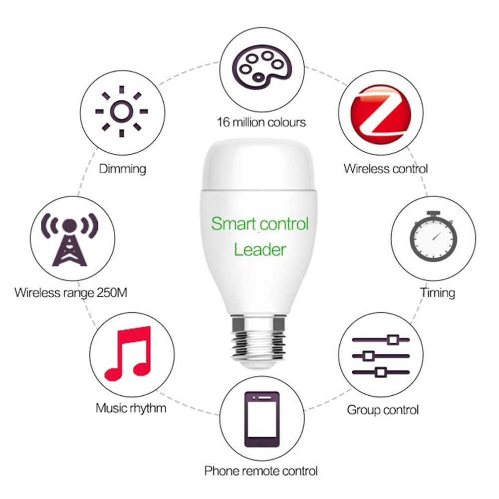 WIFI Smart Bulb E27 Super Bright Wifi APP Remote Control RGBW Timing Light Bulb Smart Phone Remote Control Bulbs smart phone wifi app remote control wet