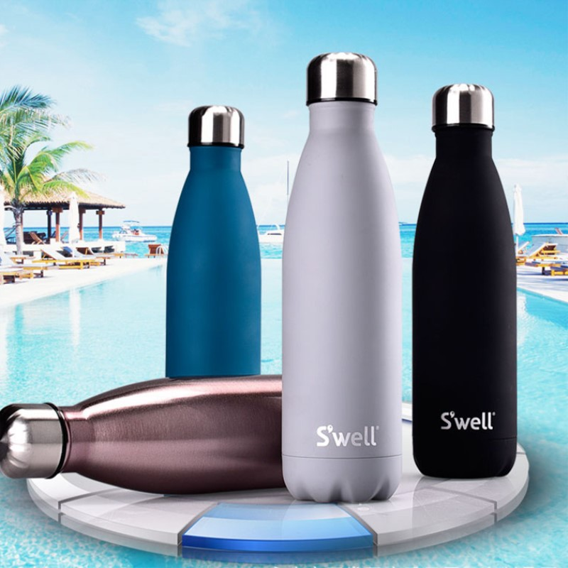 500ml stainless steel Metal Thermal insulation bowling bottle Vacuum Insulated Thermal Sport Bottle for water Swell