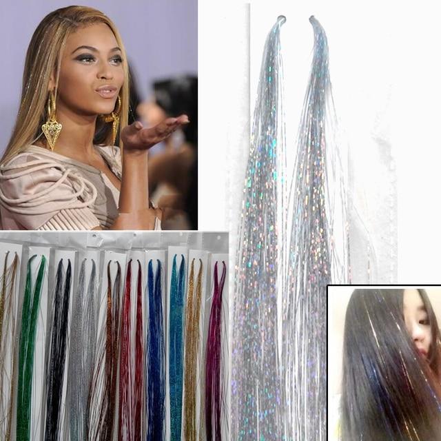 fc629826 € 4.91 10% de DESCUENTO|Aliexpress.com: Comprar 11 Color extensiones de  cabello de seda 5 paquetes de pelo Bling Hairdecoration extensión de ...