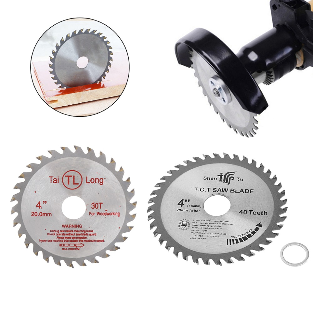 4 Inch 30T Circular Sawing Blade Wood Cutting Round Discs Sawing Cutter Tools L15