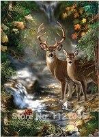 NEW DIY 3D Diamond Forest Deer Painting Mosaic Embroidery Rhinestones Cross Stitch Canvas Home Decor AZ012