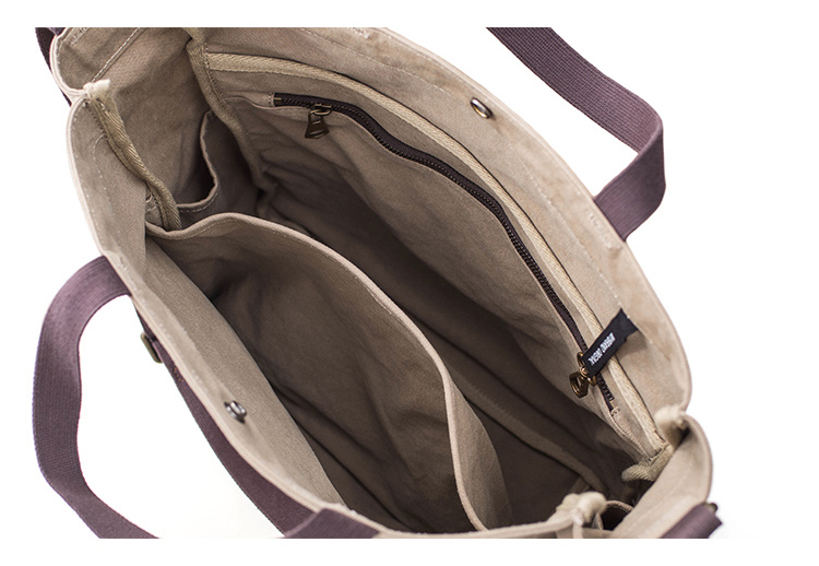 Aetoo elegante e elegante lona sacola masculina