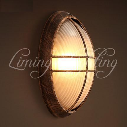 Loft Style Bedroom LED Wall Lamp Iron Glass Antique Wall Sconce Industrial Vintage Wall Light Fixtures For Bar Home Lighting new classic wall light vintage creative iron lamps american style iron antique wall lamp bed room lighting top glass home decor