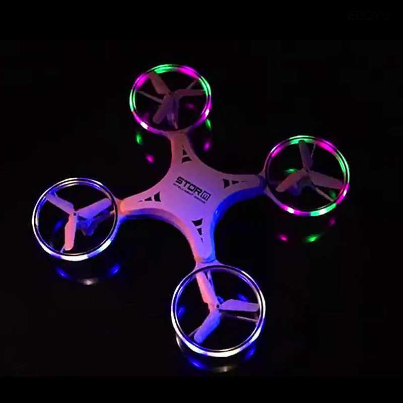 EBOYU 023 RC Drone 2.4Ghz Induction Auto-éviter les Obstacles RC quadrirotor Drone nouveauté main contrôle LED balle volante lumière LED RTF