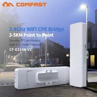 COMFAST 장거리 3-5KM 야외 무선 AP 라우터 와이파이 브리지 300Mbps 2.4Ghz 와이파이 CPE 2 * 14dBi 와이파이 안테나 Nanostation