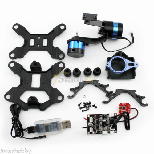 Tarot Brushless Gimbal T-2D Gopro Hero3 Camera Mount W/ 2 axis gyroscope ZYX22 2 axis brushless gimbal camera mount gyro zyx22 for gopro 3 aerial photography multicopter fpv tarot