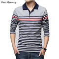 DEE MOONLY High quality Men Long Sleeve t-Shirts 100% Cotton Male T shirt Fashion Tees Tops t-shirt men free shipping M~4XL