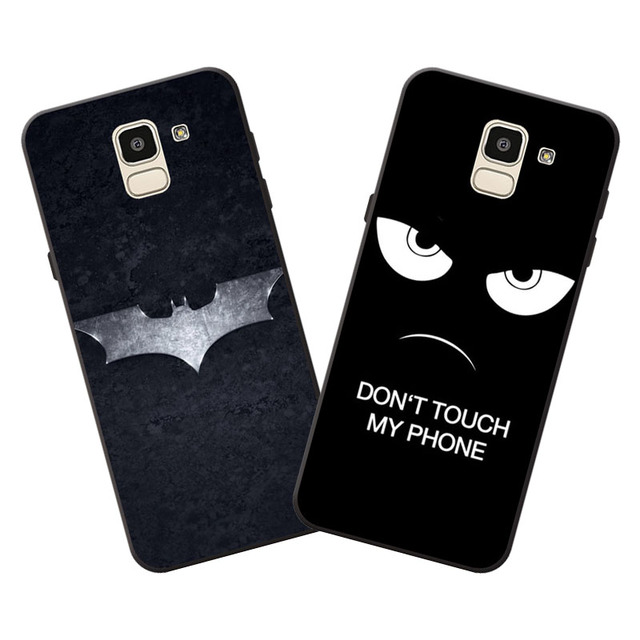 the latest 9d93c 943e8 US $1.51 5% OFF|For Samsung Galaxy J6 2018 Case,Silicon Black bats cartoon  Painting TPU Back Cover for Galaxy J6 2018 Phone protect cases shell-in ...