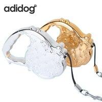 Sản Phẩm vật nuôi Dog Leash Retractable Cho Chó Dẫn Rope Chain Hàng Hóa nhỏ Vừa Big Dog Kim Loại Chì Đen Hồng Vàng CHIHUAHUA Cô Gái