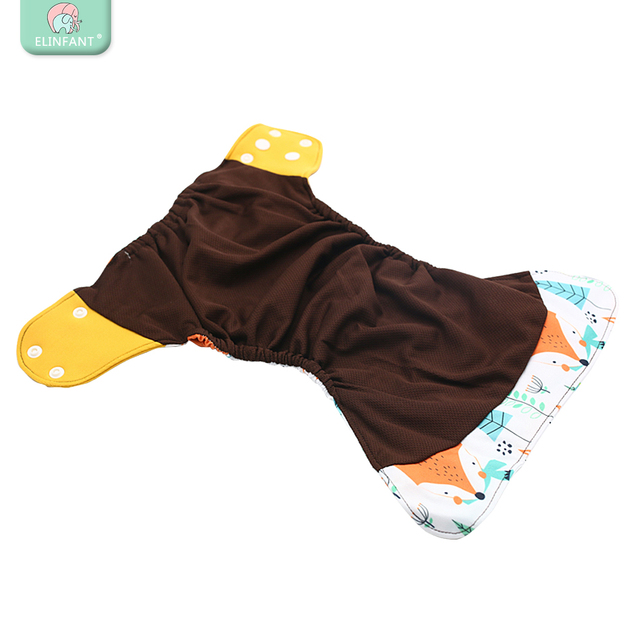 Elinfant OS coffee mesh cloth pocket diaper baby washable &reusable cloth nappy 3-15kg baby diapers freeshipping