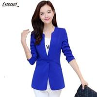1PC Women Blazer Femenino Jaqueta Feminina Women Blazers And Jackets Spring Coat Plus Size One Button