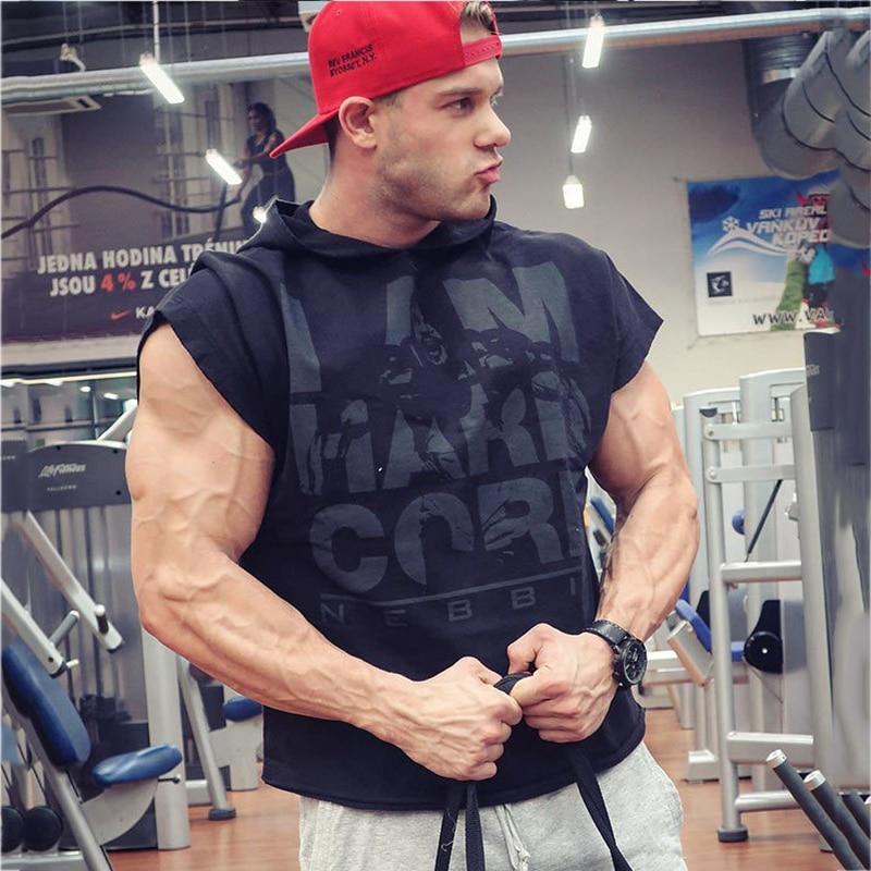 Men cotton hoodie sweatshirts fitness tank top (14)A