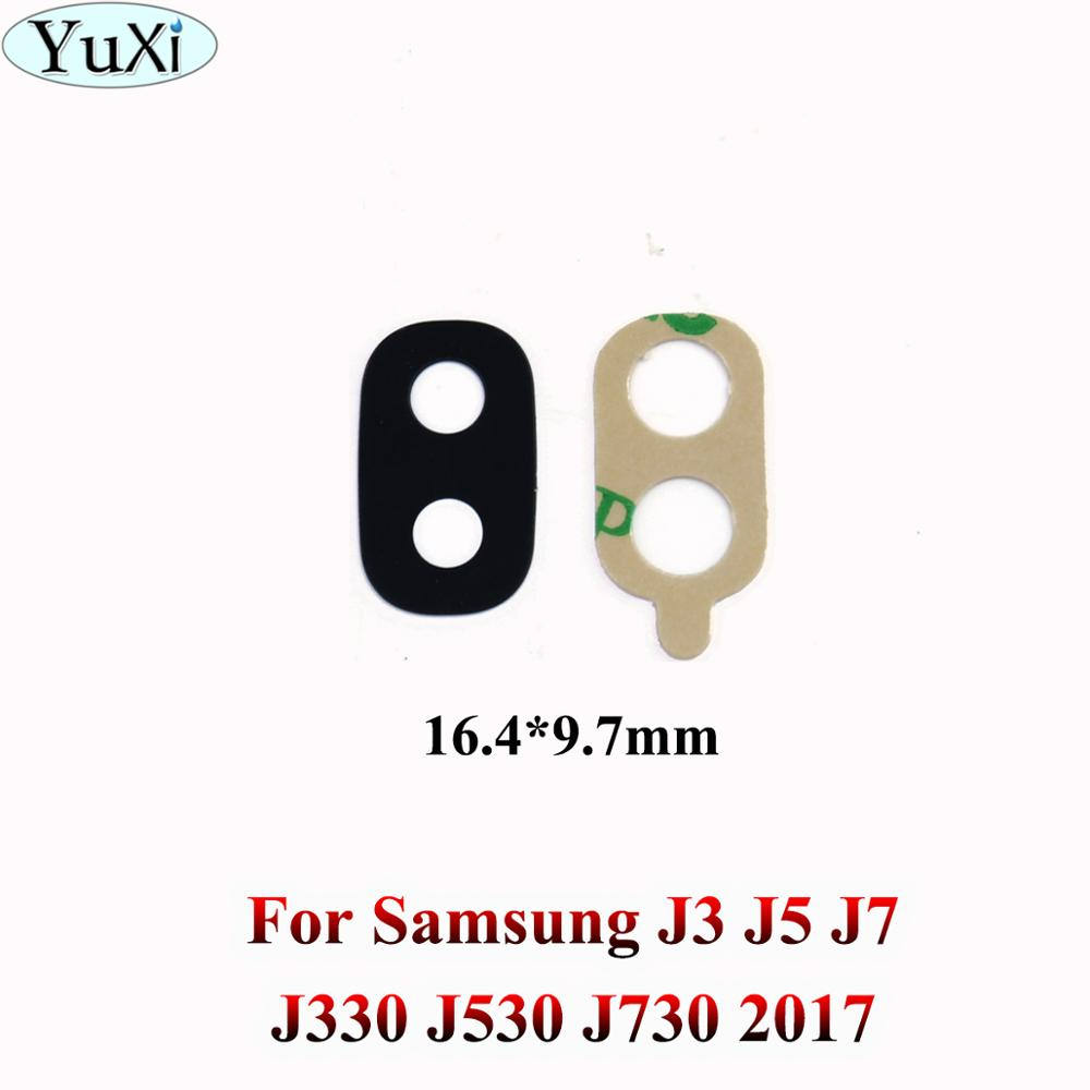 JCD 2pcs/lot For Samsung Galaxy J3 J5 J7 2017 J330F J330 J530F J530 J730F J730 Phone Housing Back Rear Camera Glass Lens Cover