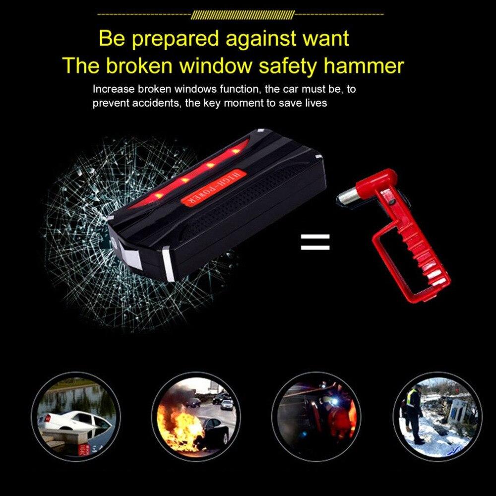 Multi fonction voiture saut démarreur Portable 4 USB voiture alimentation Rechargeable batterie externe haute puissance batterie accessoire chaud