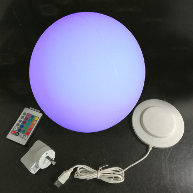 30*30*30cm Lumineux Led Ball illuminated 16 Color Changing Round ball Table Lamp Lights free shipping 5pcs/lot матрас perrino перрино лотус 90x190