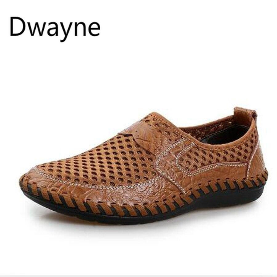 6a8473a51 Дуэйн Лето Обувь с дышащей сеткой обувь Повседневная Мужская обувь из  натуральной кожи слипоны брендовая модная