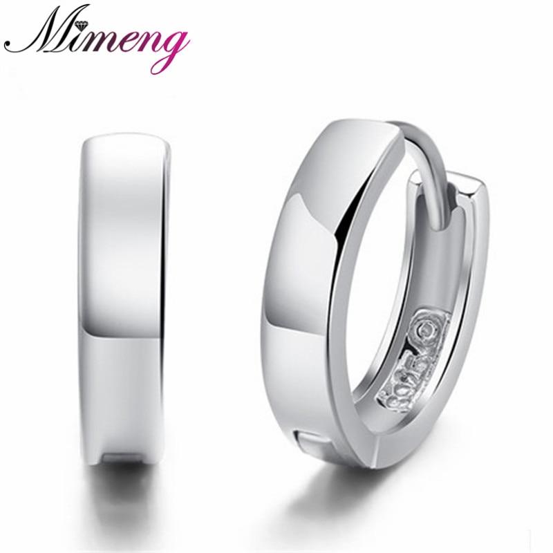 2014 NEW Korea S925 Sterling Silver Smooth Earring Latest Model Fashion Earrings Men Jew ...