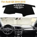 2016 Car Styling Poliéster Sombra Protectora Dashboard Mat Cojín Pad Photophobism Alfombra Interior Para Audi Q5 2010-2016