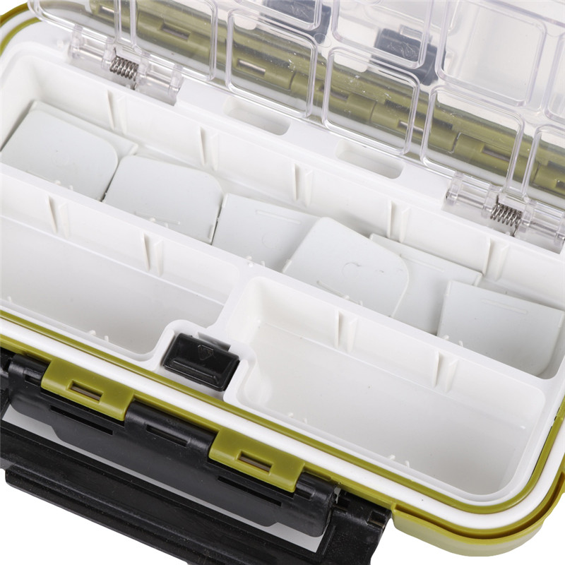 Image 4 - 20CM Fishing Tackle Box Multiple Compartments Double Sided Fish Lure Bait Line Hooks Holder Container Fishing Accessories Box h-in Fishing Tackle Boxes from Sports & Entertainment